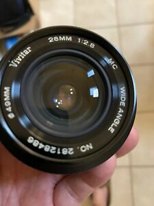 MInt! Vivitar 28mm f/2.8 MC wide agle for Canon FD mount Breech Lock