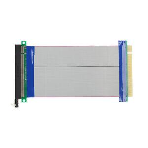 US PCI-E Express 16X-16X Riser Card Extender Ribbon Flexible Extension Cable