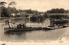CPA Environs de Lyon - Ile Barbe - L'Ecluse et le Barrage (572578)