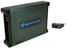 Rockville DBM12 2000w 2 Ohm Marine/Boat Mono Amplifier Amp w/Covers+Bass Remote