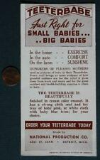 1940s Era Detroit,Michigan Teeterbabe Car Seat-Baby Chair brochure-Great Photos*