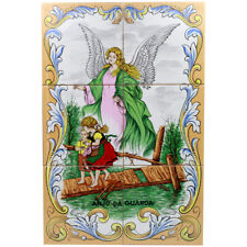 Guardian Angel Portuguese Ceramic Tile Art Wall Panel Mural Decor