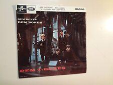 """GARY FARR & T-BONES:Dem Bones-Dem Bones-Dem T-Bones-U.K. 7"""" 1965 Columbia EP PCV"""