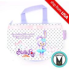Japan Tokyo Disney Sea StellaLou Rabbit Duffy Friend Souvenir Lunch Bag Case NEW