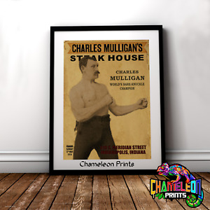 Ron Swanson Charles Mulligan's Steakhouse Poster Nick Offerman Office Poster