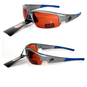 LOT OF TWO (2) DETROIT LIONS MAXX DYNASTY, HIGH DENSITY, DRIVING LENS SUNGLASSES
