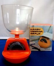HANDY MODERN SCALE * ORANGE * CLEAR CUP TO MEASURE & STORE * 1970's * HONG KONG