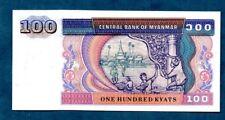 MYANMAR  -  (1994)   100 KYATS  -  NICE UNC