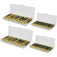 AA AAA Battery Storage Case Holder Organizer Box For 10 AA/AAA Batteries 4 Pack