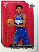2018-19 Panini NBA Hoops Shai Gilgeous-Alexander Rookie RC #262, Clippers