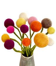 """14 Fleurs en Feutre """" Rayon de Soleil """" / Autruche Felt Bouquet - Gry & Sif"""