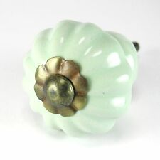 Green Ceramic Kitchen Cabinet Knob Drawer Pulls Furniture Hardware C84- LOT/10