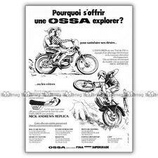PUB OSSA 250 EXPLORER & KIT MICK ANDREWS REPLICA - Ad / Publicité Moto de 1975