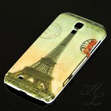 Samsung Galaxy S4 Hard Case Schutz Hülle Etui Cover Eiffelturm Bunt Paris