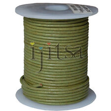 2mm mossy green genuine leather cord 5 yards section (spool is not included)