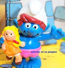 20446 Schtroumpfette schtroumpf sasette et sa poupee smurf pitufo puffo puffi