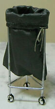 Doll miniature handcrafted Medical Laundry basket sack stand 1/12th scale