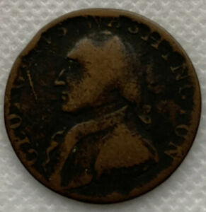 1795 Washington North Wales Colonial Halfpenny 1/2P -  Baker-34 W-11150 R.3