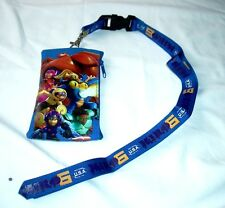 Disney Big Hero Six 6 BLUE Wallet Lanyard ID Fast Pass Pouch Holder Baymax NIP
