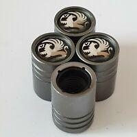 VAUXHALL Titanium Matte Grey valve Tyre Dust Caps Plastic Inside all models