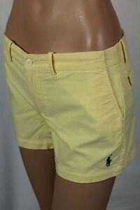 Ralph Lauren Sport Yellow Shorts Navy Blue Pony Logo NWT