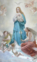 """perfect 24x36 oil painting handpainted on canvas """"Maria and the angels""""@NO5859"""