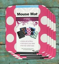 Lot of 5 HandStands Mouse Mat Pads Pink and White Polka Dot