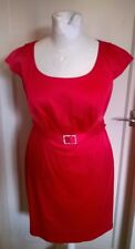 WOMEN'S PEPPERBERRY CORAL SATIN STYLE DRESS SIZE 14 SUPER CURVY CHRISTMAS