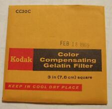 Kodak Color COMPENSADOR GELATINA Filtro N º cc30c 7.6cm OR 7.6cm Cuadrado