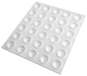 30 Mini Clear Self Adhesive Domed Bumpers, Rubber Feet for Coasters & More