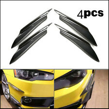 4Pcs Carbon Fiber Front Lip Splitter Fins Body Spoiler Canards Refit Bumper Trim