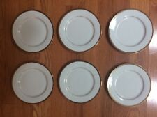 Lot of 6 Delta Airlines First Class Plates China Gold Rim 0442-03863 6.25 inches
