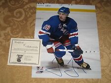JAROMIR JAGR FULL NAME AUTOGRAPHED AUTO NEW YORK RANGERS 8X10 PHOTO FROZEN POND