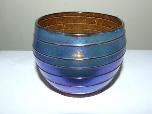 Iridescent Glass Spiral Bowl