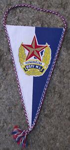 Vintage Ruda Hvezda Usti nad Labem Czech Red Star Boxing Club Pennant Flag