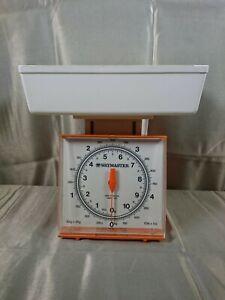 Kitchen Scales Vintage Waymaster 710D Orange and White 1970's 5kg x 25g