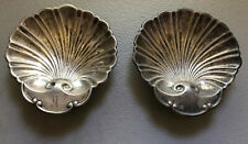 2 Vintage Sterling Silver 3 Footed Shell Shape Mint/Nut Dishes