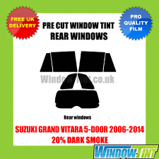 SUZUKI GRAND VITARA 5-DOOR 2006-2014 20% DARK REAR PRE CUT WINDOW TINT