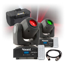 More details for panther 40 led spot light dmx moving head gobo dj disco lighting with bag (pair)