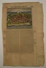 MOMBASA KENYA 1575 BELLEFOREST UNUSUAL ANTIQUE WOODCUT VIEW FRENCH EDITION