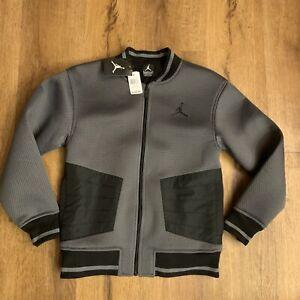Jordan Jumpman Signature Mesh Jacket Youth Size Large Gray $100