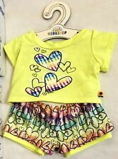 Build A Bear Yellow Justice Multicolor Heart 2 Set Clothes Outfit Shirt Shorts