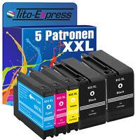 5 Drucker Patronen für HP 932 933 XL Officejet 6100 6600 6700 7110 7600 7610