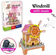 3D Windmill Paper Puzzle with Music NEW