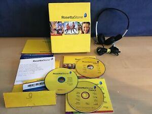 Rosetta Stone CD Level 1 Turkish WITH HEADPHONES MIC
