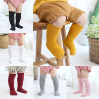 Cute Toddler Baby Girls Knee High Long Socks Winter Warm Cotton Casual Stockings