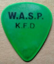 More details for w.a.s.p. mike duda guitar pick k.f.d. tour stage used 1997 rare
