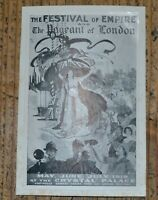 Antique Original Festival of Empire at the Crystal Palace 1910 Advertisement