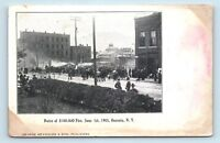 Oneonta, NY - VIEW OF 1905 FIRE DISASTER - CROWD STREET SCENE POSTCARD O1