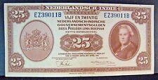 1943 Netherlands Indies 25 Gulden Bank Note High Grade  ** Free U.S. Shipping **